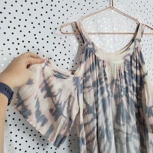 Hard Tail Tops - Hard Tail Tie Dye Cold Shoulder Top